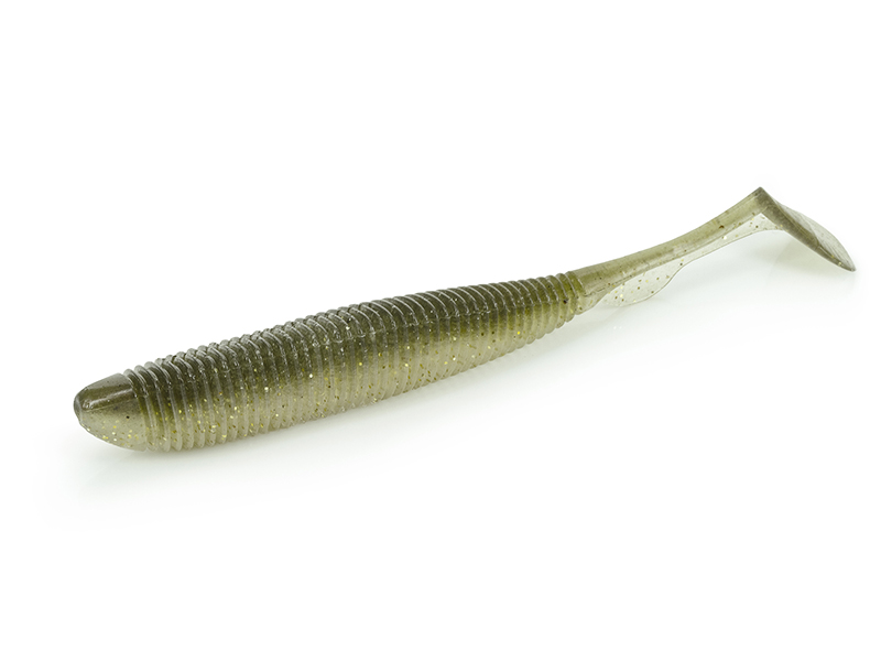 "Molix RA Shad 8 pcs 3/"" #139 Gold Ayu Plastic Swimbaits Paddle Tail Craw Scent"