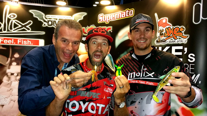 Mike, Chris and Sam with some cool stuff